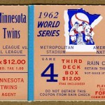 1962 Phantom World Series ticket. Click on the ticket to see the full image.