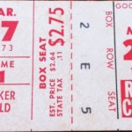 1973 Twins spring training ticket at Tinker Field.