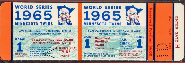 1965 Twins World Series game 1