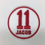 Patch worn by the Twins and Indians on 9/9/2016 for Jacob Wetterling whose remains were finally found after being missing for almost 30 years. One of Minnesota's great mystery's was finally solved.