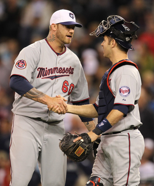 Jon Rauch and Joe Mauer