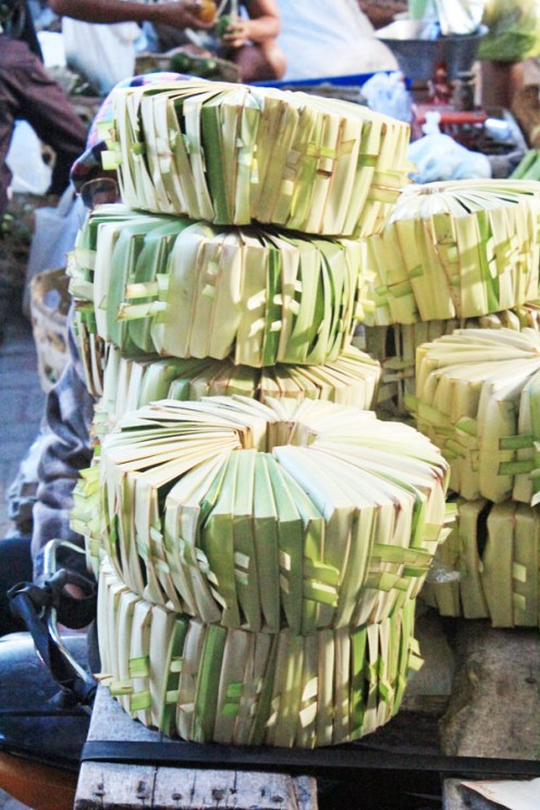 Offering trays, Ubud market, Bali