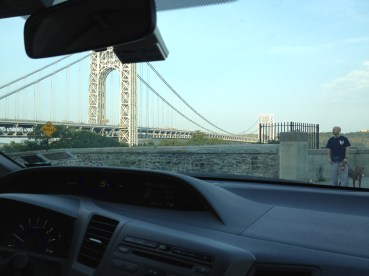 The GW Bridge on a bright morning.