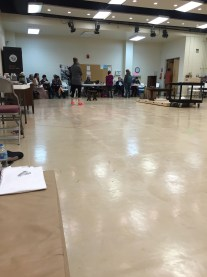 """Rehearsal, from """"offstage"""""""