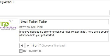 Twirp Communications logo in thumbnail screen for sharing on social media