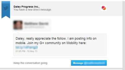 Twitter Direct Message Automation Fail