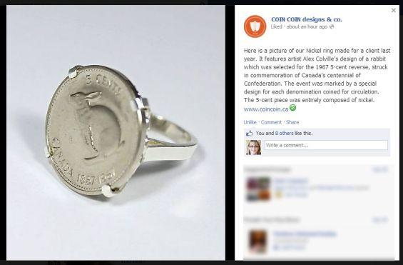 bunny nickel ring Coin Coin designs