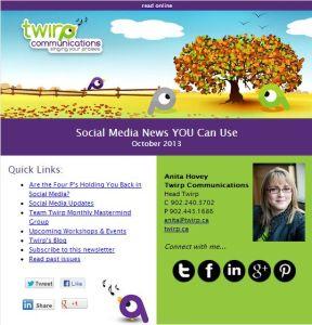 Twirp Communications eNewsletter