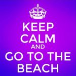 keep calm beach