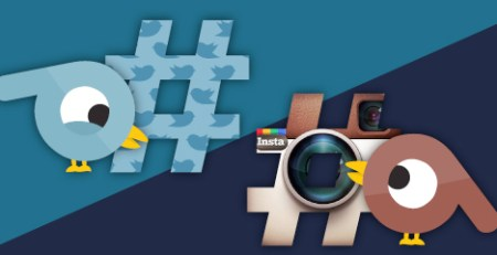 Hashtags on Instagram and Twitter