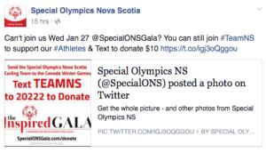 donate social media at events