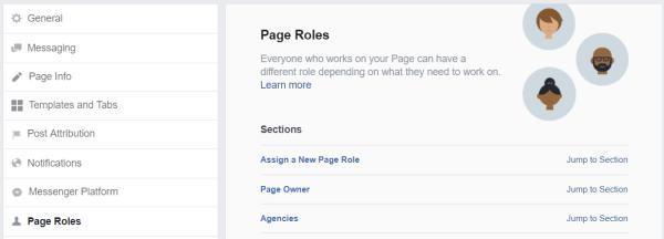 add an admin to any social media profile