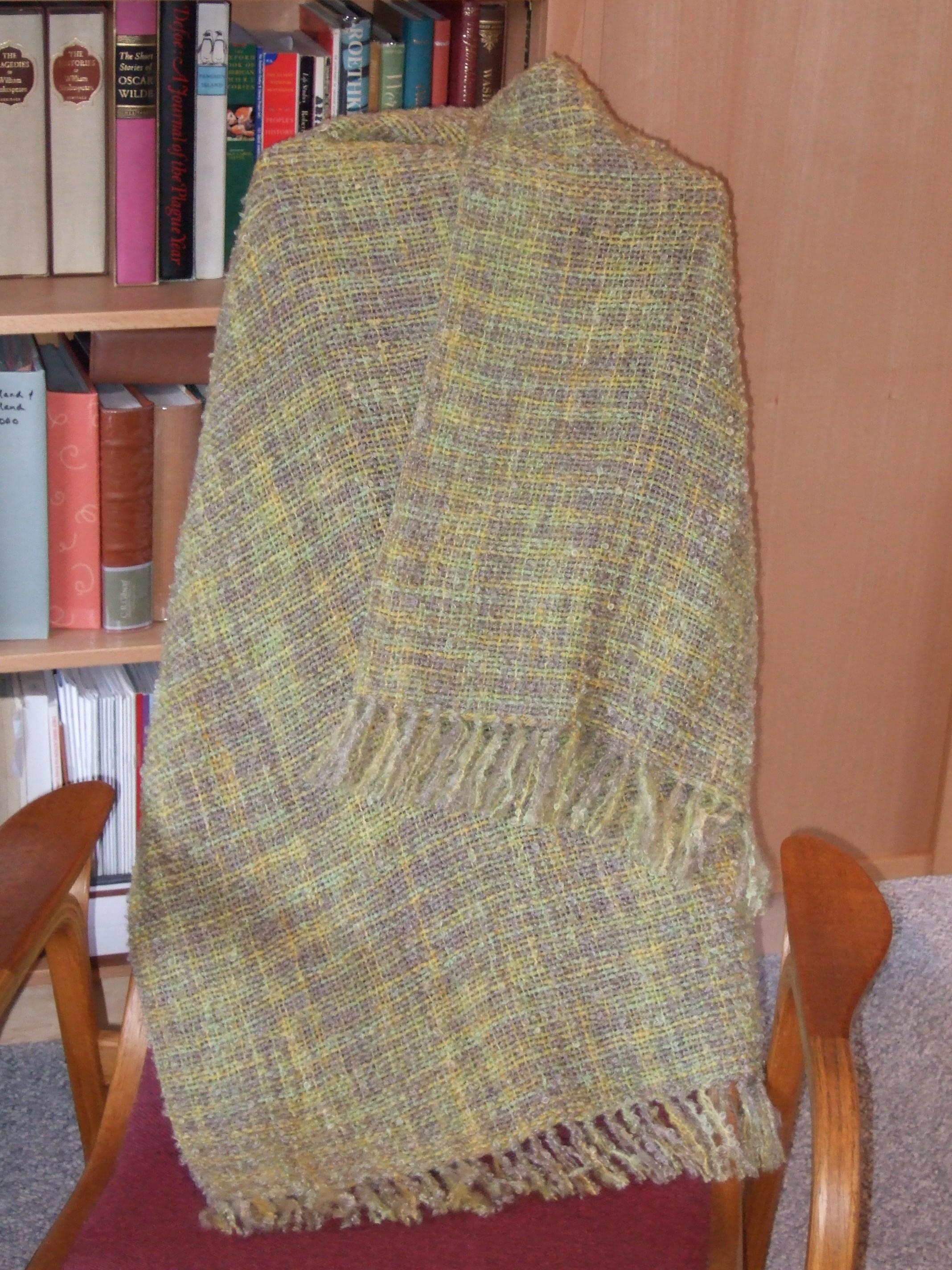 Sagebrush colorway, matching wool handpaint for weft