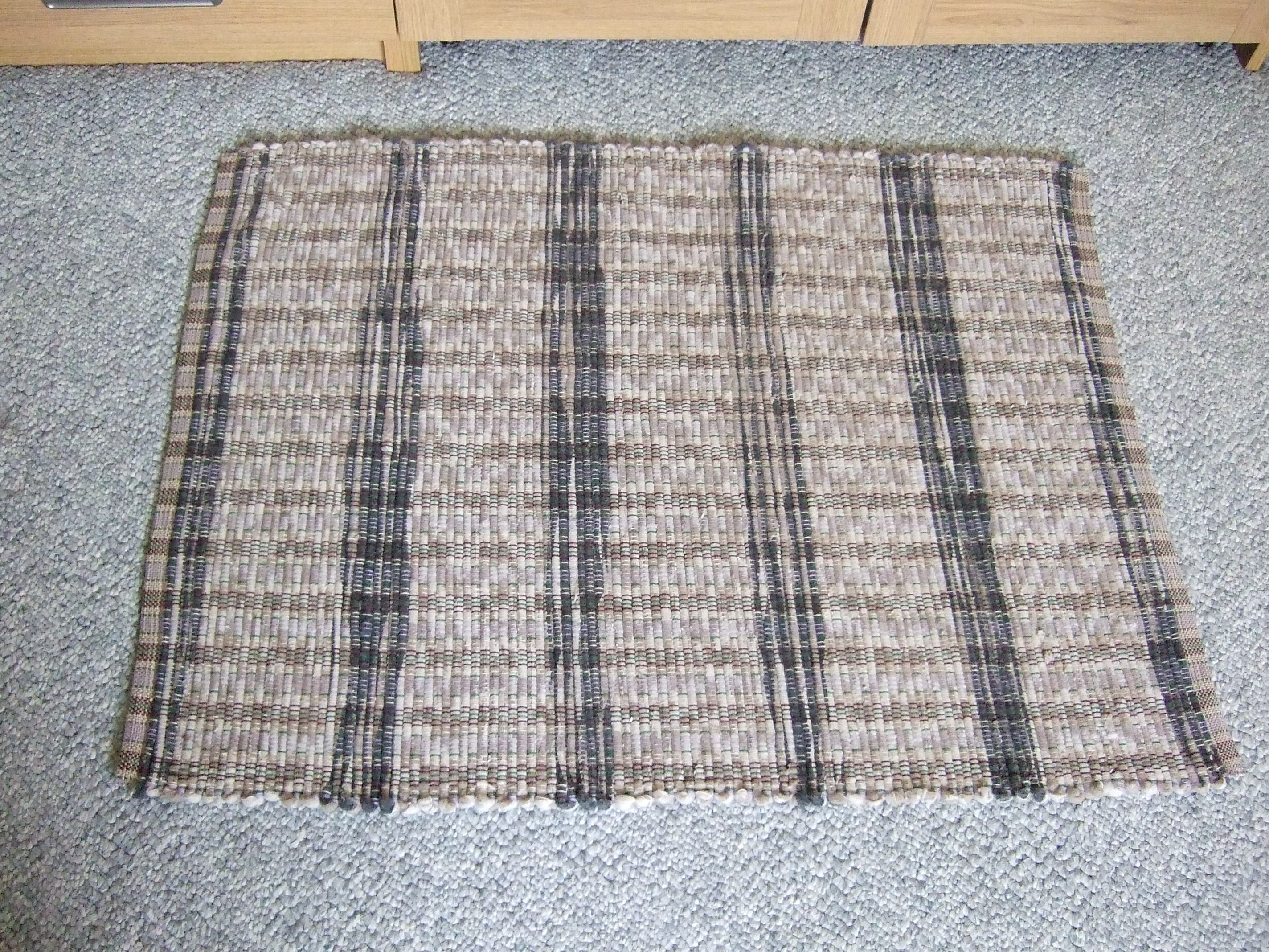 Pendleton wool fabric, cream/tan/black