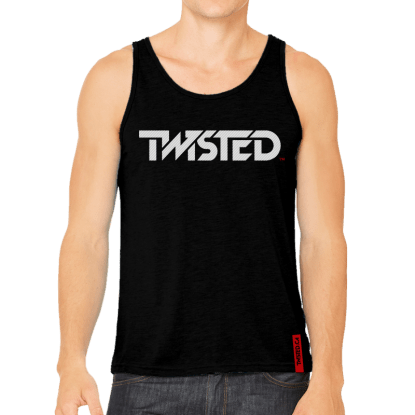 Men's Tank - Black w/ Grey Logo