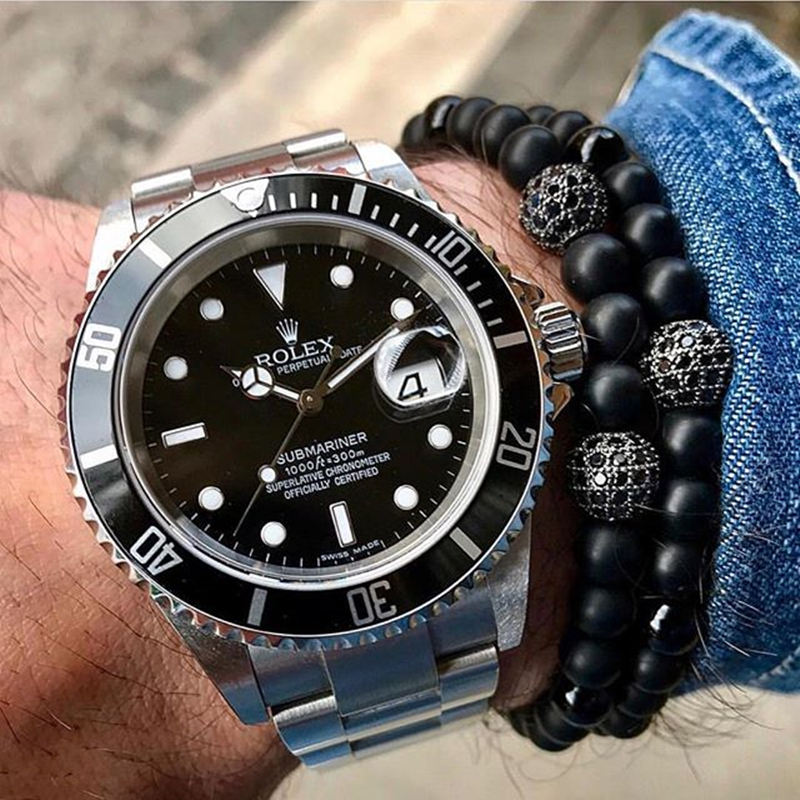 Rolex Submariner with beads.