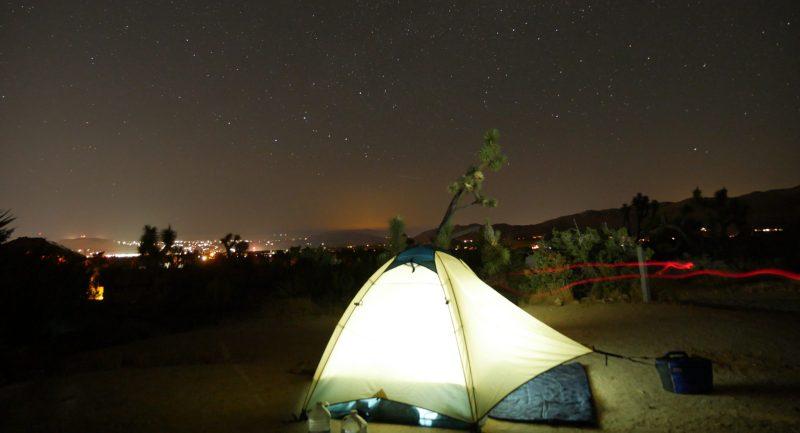 REI Half Dome Tent Under Starry Sky