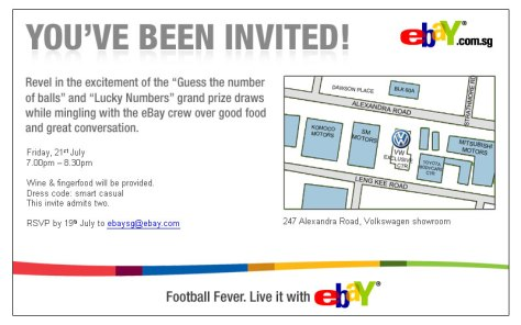 EDM design for eBay - E-Invite
