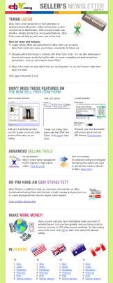 EDM design for eBay - Sellers Newsletter