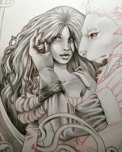 Finishing the hairs and adding details