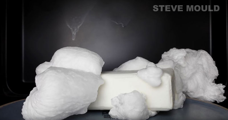 you microwave a bar of soap