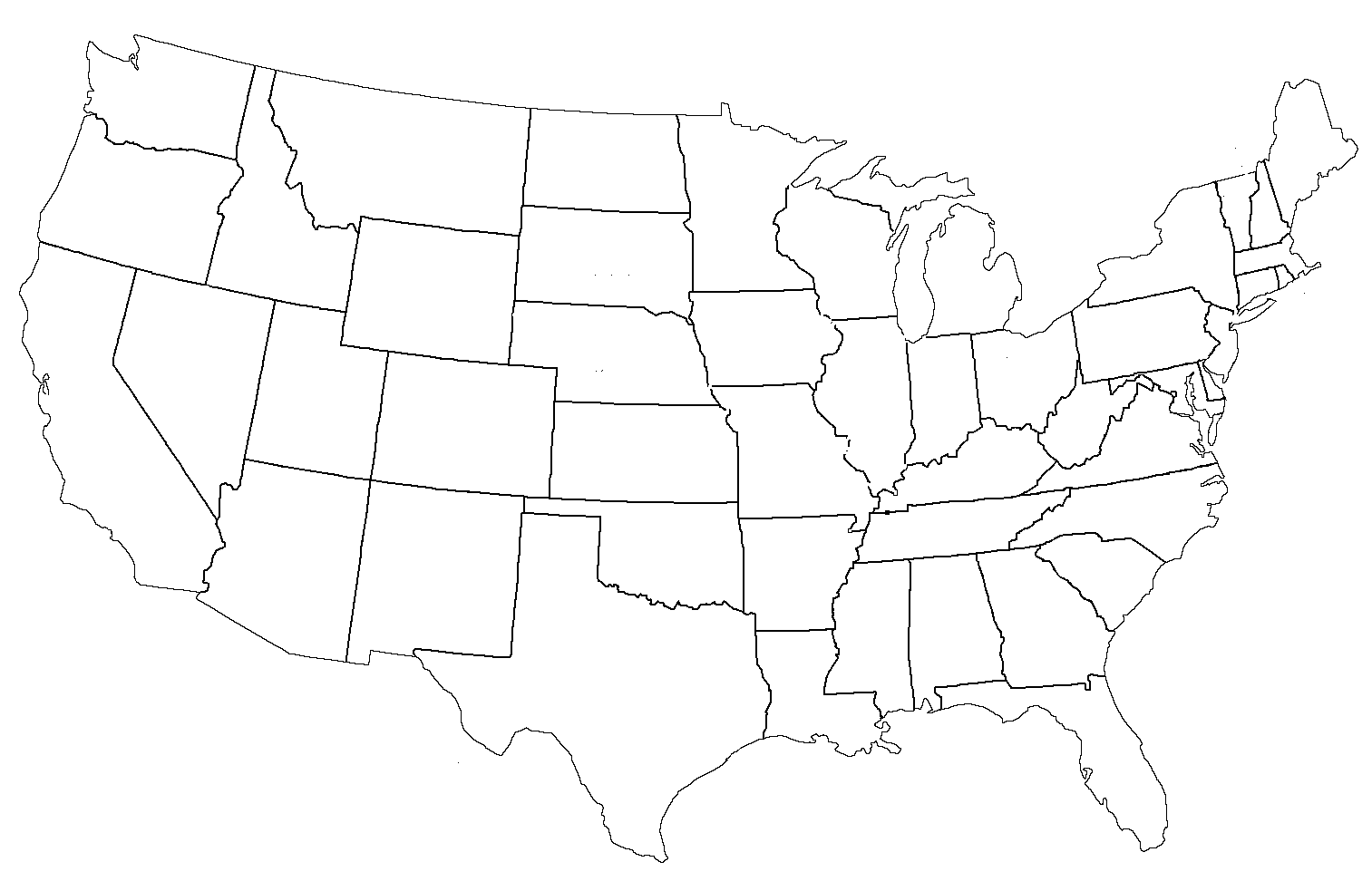 Blank Map Of The United States Twistedsifter