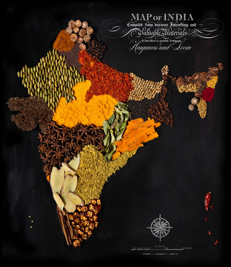 Country Maps Made from Regional Foods     TwistedSifter
