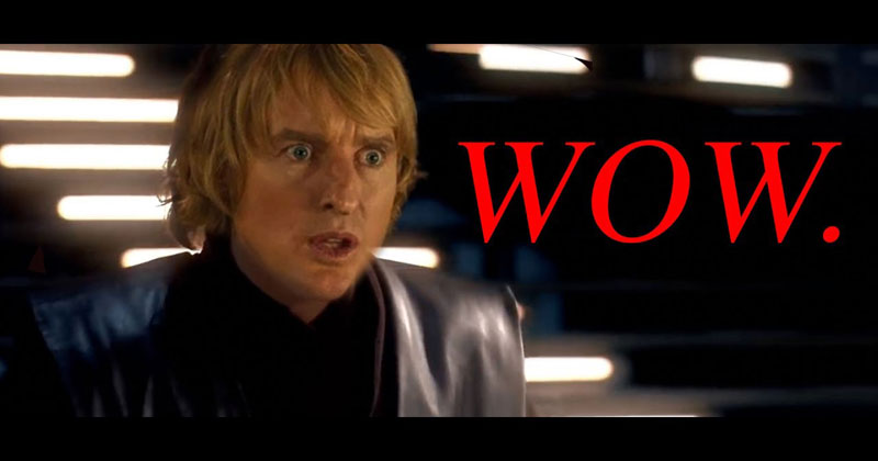 Star Wars But All Of The Lightsaber Sounds Are Owen Wilson Saying