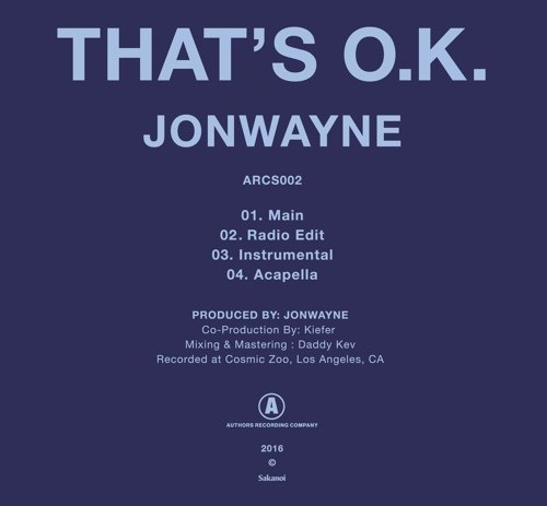 New Jonwayne and That's O.K with us.