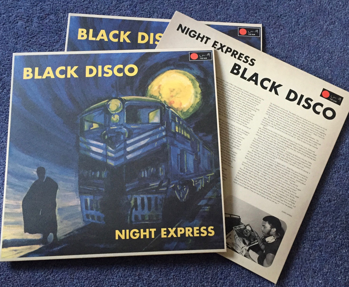 Deluxe vinyl pressing of Pops Mohamed's Black Disco album Night Express
