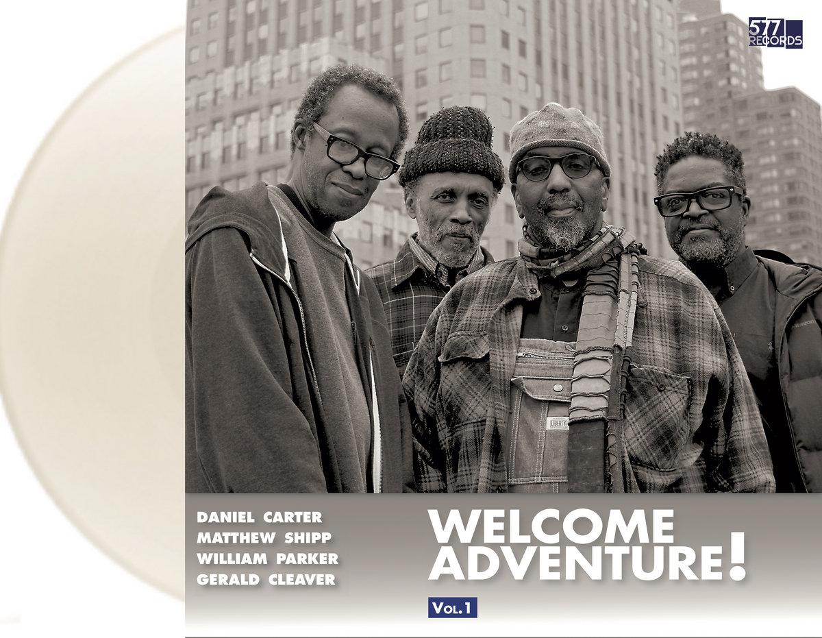 Welcome Adventure! Vol 1. vinyl artwork.