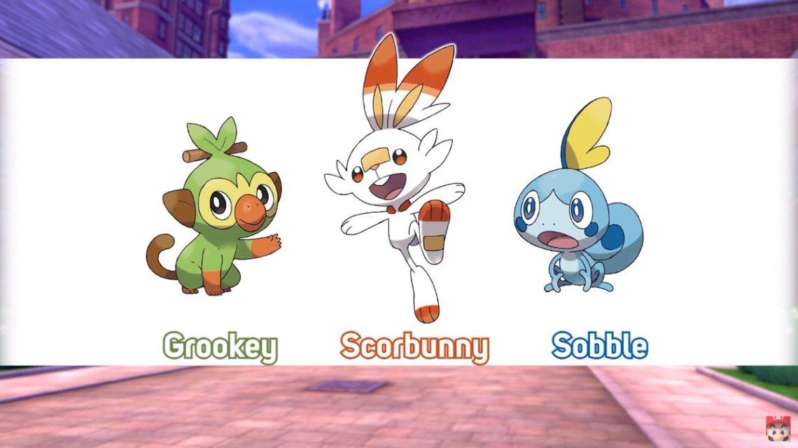 pokémon sword and shield starter evolution