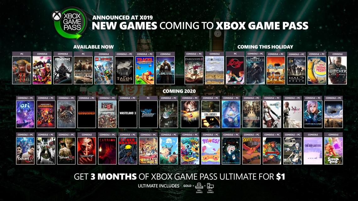 games leaving xbox game pass november 2019
