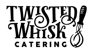 Transparent Twisted Whisk Catering Logo with Black Text