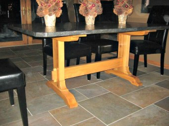 90 trestle table