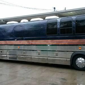 Custom political tour bus wrap