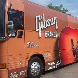 Custom tour bus wrap