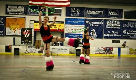 Twistin Vixens Hooping at SCAR Dolls Roller Derby