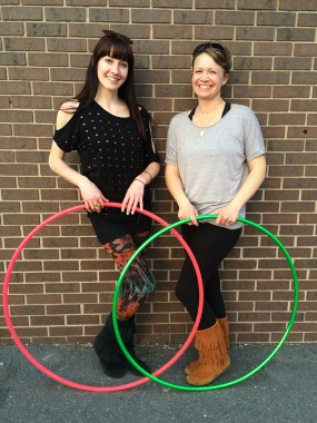 Twistin Vixens Amy and Nikky Hoop Dance Performers