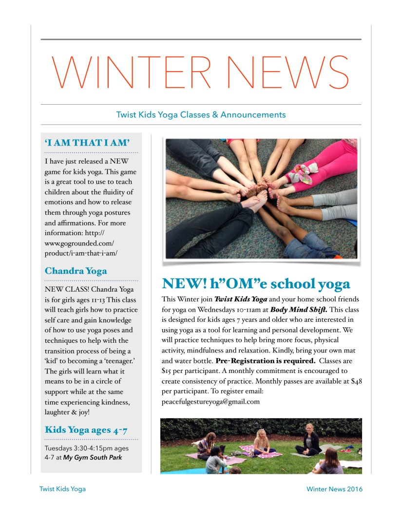 twist kids winter news