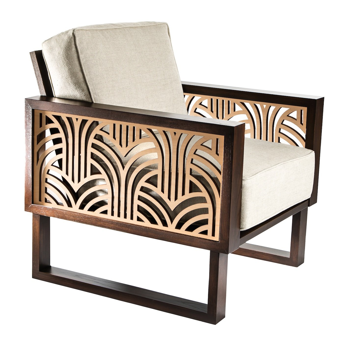 Art Deco Lounge Chair Twist Modern