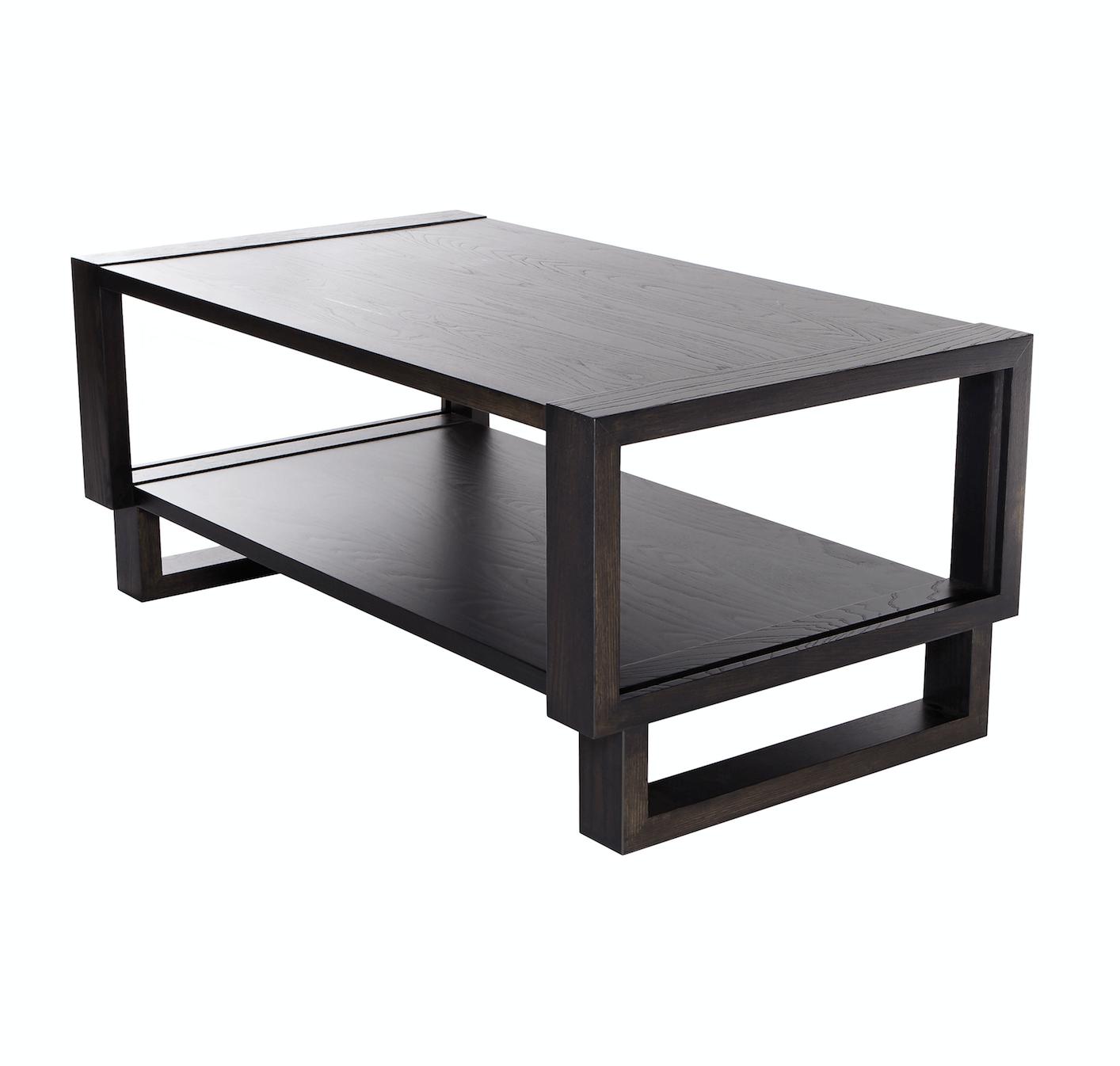 twist modern frame coffee table gray