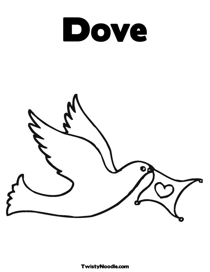 pics photos peace dove coloring page tattoo pictures