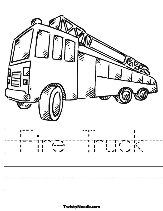 fire truck coloring sheets  free coloring pages