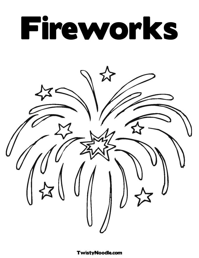 firework rocket colouring pages