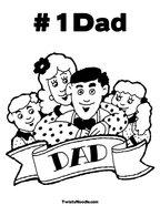# 1 Dad Coloring Page