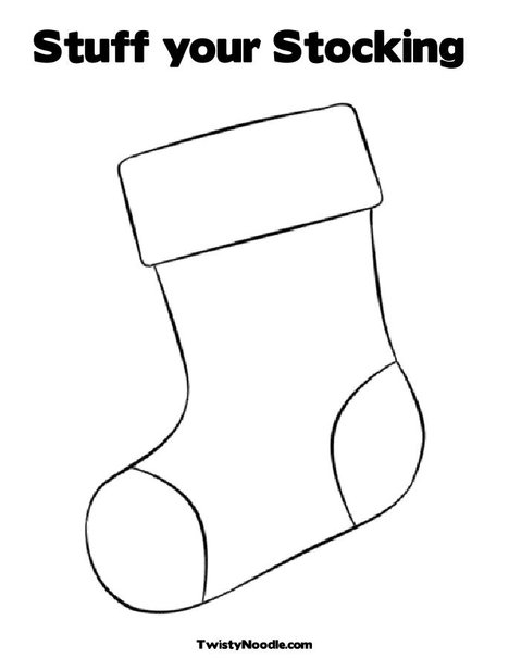 coloring pages christmas stocking christmas stocking colouring