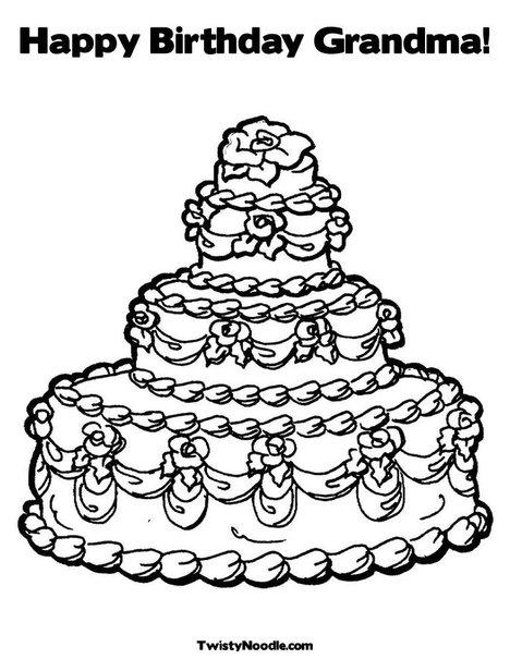 grandma birthday coloring pages free coloring pages of happy ... | 605x468