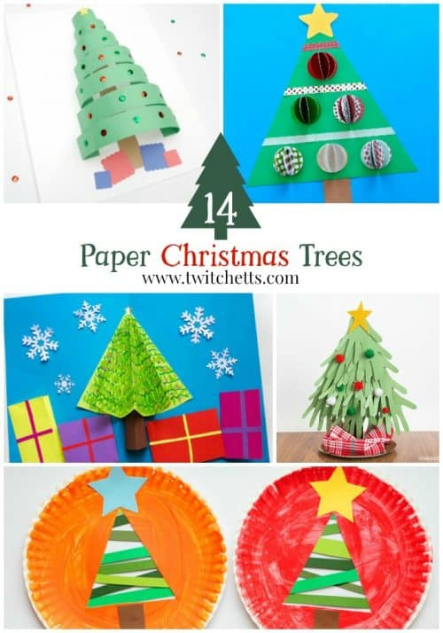 Construction Paper Christmas Trees Twitchetts