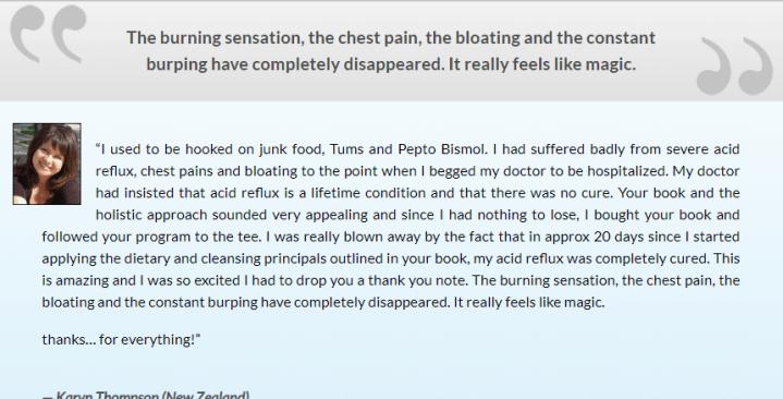 heartburn no more system reviews